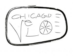 Chicago Velo Pin Magnet and Bottle Opener Design 1