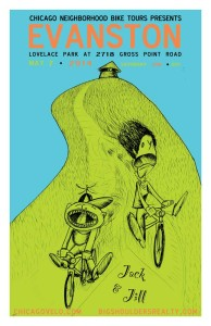 Tour of Evanston 2014 Poster by Ross Felton