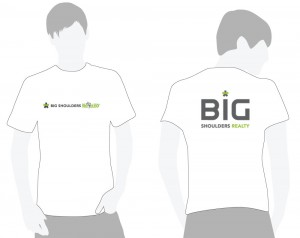 Big Shoulders Realty and Big Shoulders Recyclery T-Shirt