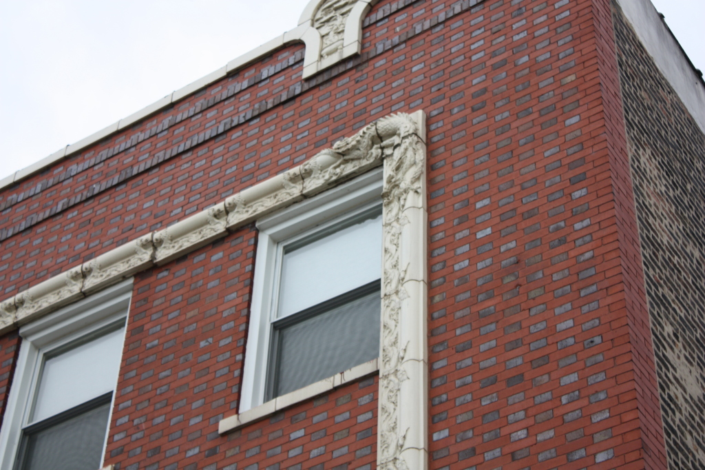 Detail on a building on the 200 block of N Cermak