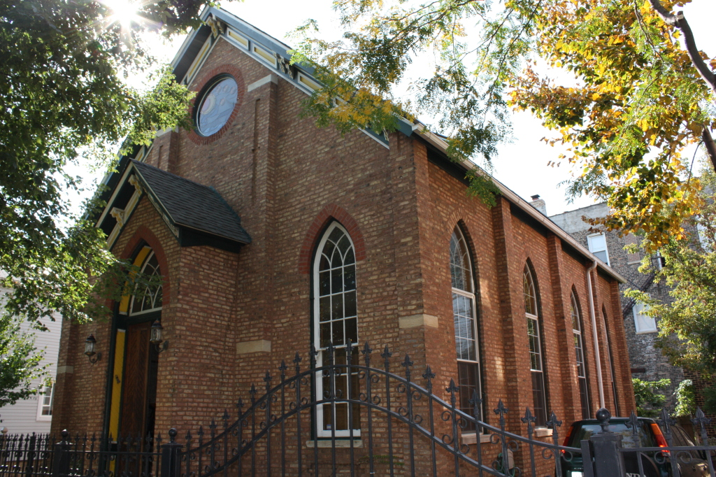 Converted church at 3106 S Racine