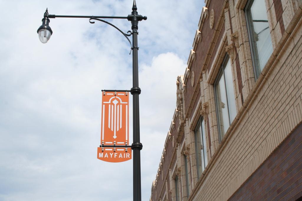 Mayfair Light Pole Sign