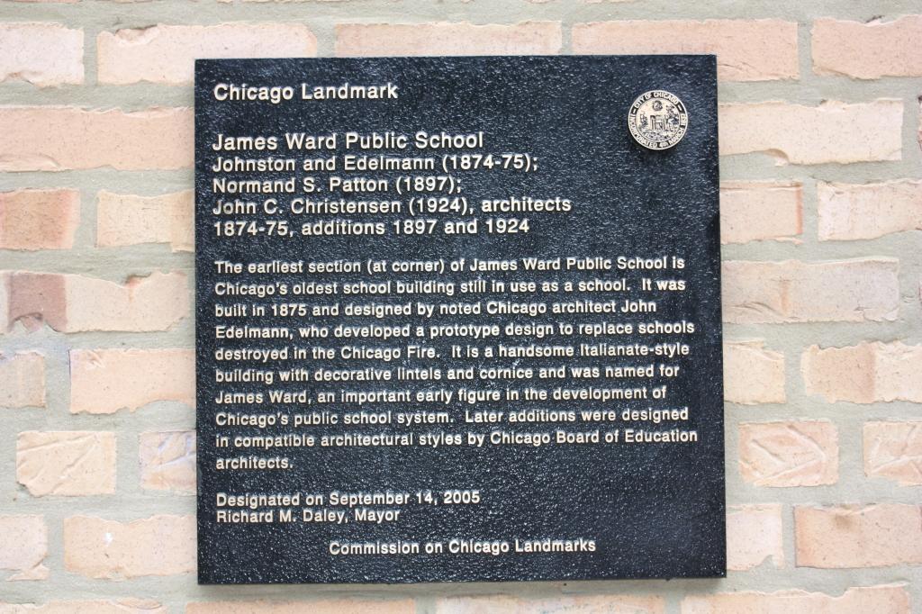 James Ward School marker