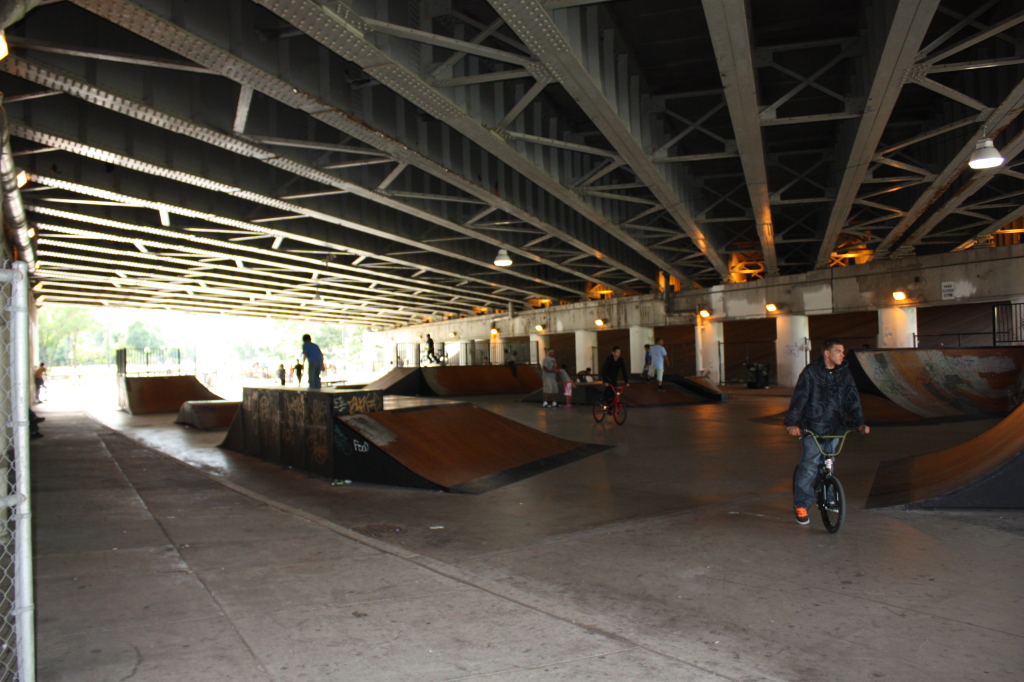 Logan Avenue Viaduct under Kennedy skate and BMX park