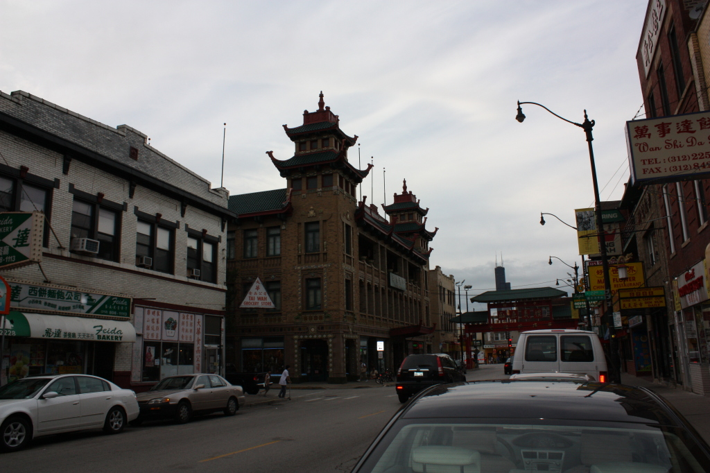 On Leong Merchants Association Building dominates the landscape at the entrance to Chinatown