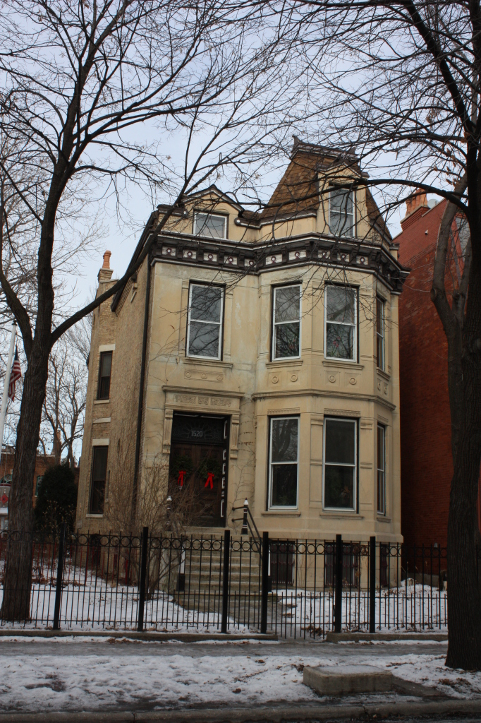 William P. Henneberry House, an 1883 Furst and Rudolph Second Empire house at 1520 W Jackson