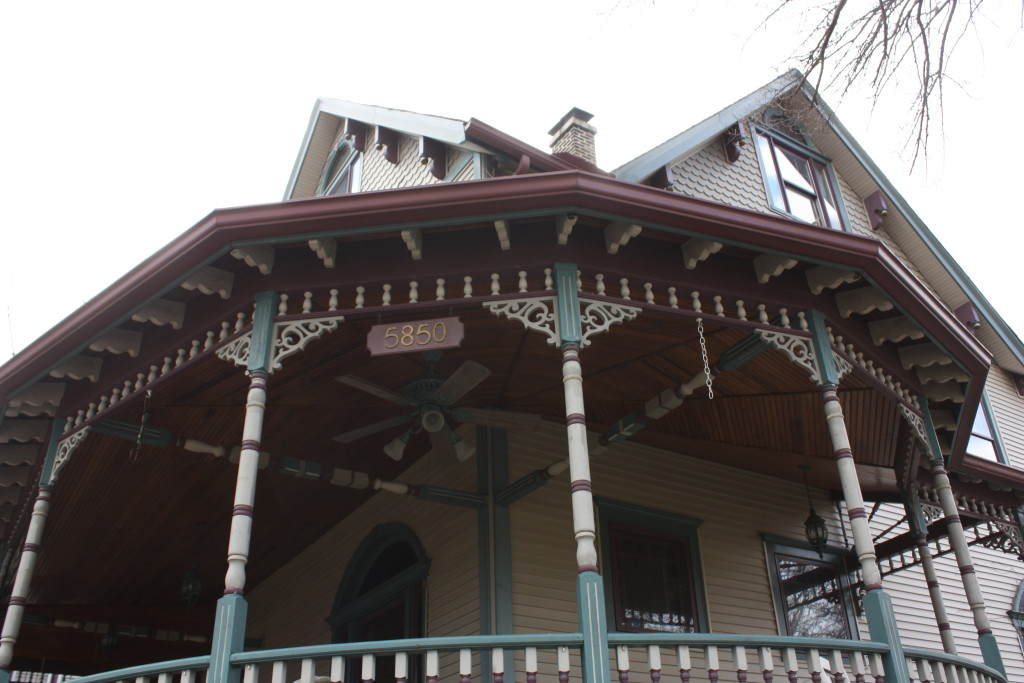 Porch detail for 5850 N Newark in Norwood Park