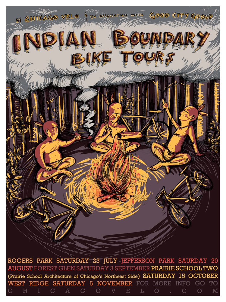 Indian Boundary Bike Tours Poster