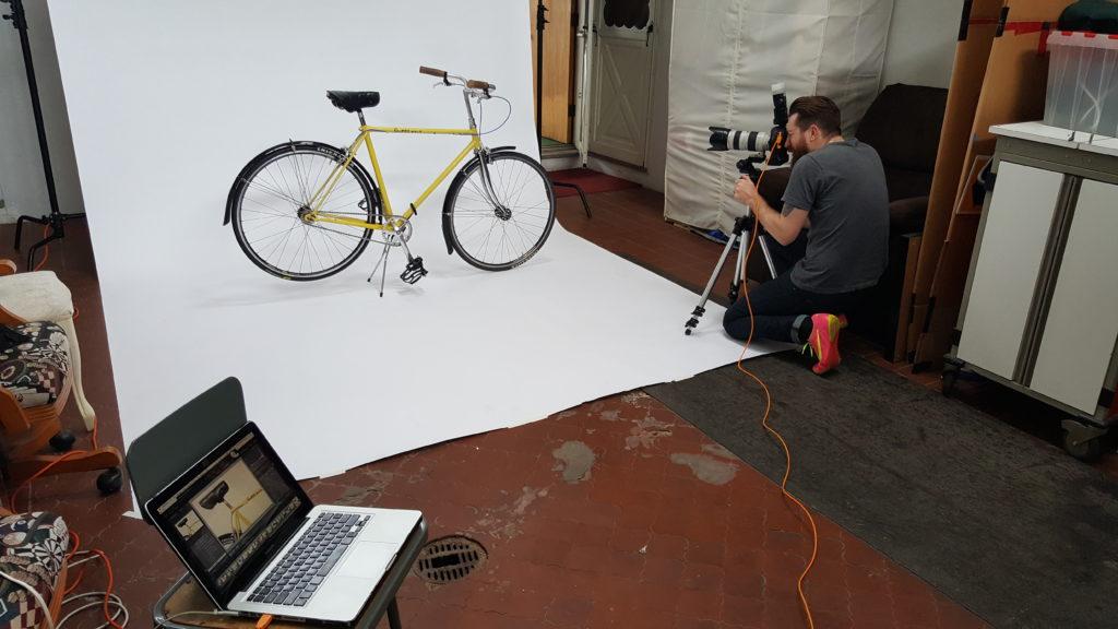 Joshua Haines shooting the Loaner Bikes